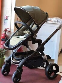 iCandy Peach Stroller Pram Olive New Ex Display with Raincover