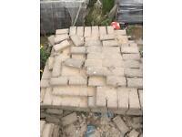 Precast Concrete Autumn Gold Paving Blocks only 30 pence each