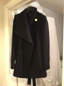 Black Ted Baker short wrap coat
