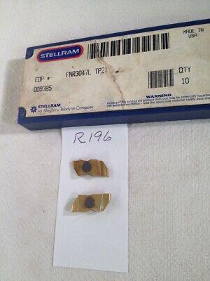 10 New Stellram Nr 3047l .094 Wide Top Notch Carbide Inserts Gr Tp21. R196