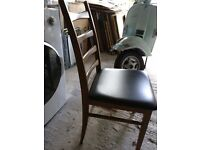 Ladder back vintage vinyl chairs two available