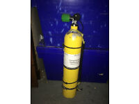 3 ltr Steel Diving Cylinder with Stainless Fittings for use as Stage Cylinder