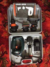 Black & Decker Quattro Como Set Drill,Sander and Jigsaw attachments