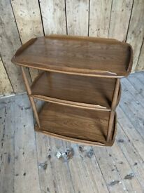 Ercol trolley bookcase? Storage golden dawn tea vintage gplanera