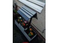 HANDMADE WELL PLANTER WITH SIDES FLOWERS INCLUDED **BARGAIN**