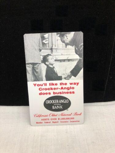 Vintage Crocker-Anglo National Bank Pocket Calendar 1959