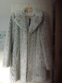 Fake fur coat size 12 Marks and Spencer