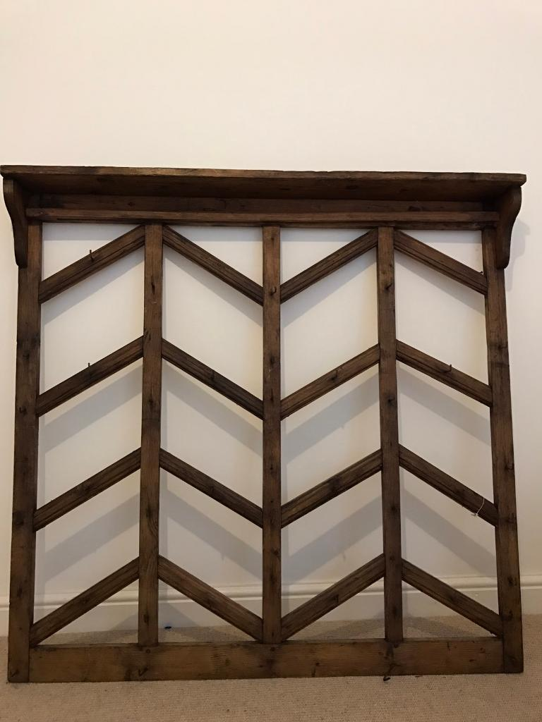 Antique large wall rack for cups, pots. 36 hooks