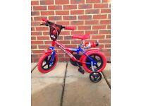 "Spiderman Kids Bike 12"" wheel"