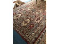 Attractive all wool carpet . 3mx2m hardly worn, strong colours