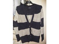 Woollen Brand new Size 10 dark blue and beige combination. Beautiful sweater