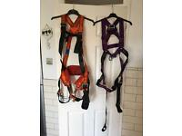 2 full body climbing harness large and medium
