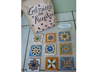 9 X TILES GORGEOUS HANDMADE FROM PORTUGAL BRAND NEW