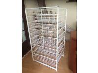 Storage Solution comprises of 3 deep & 4 shallow shelves