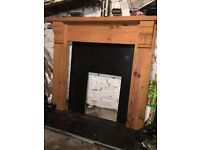 Fireplace Surround, Back Panel and Hearth