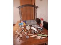 Bird Cage with all accessories needed for Budgee