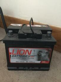Like new 12v car battery