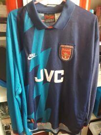 Arsenal 1995/96 Away Shirt Long Sleeve Size XL