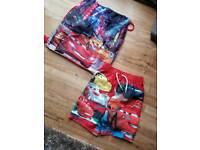 Boys Disney Cars Swim Shorts 2-3 yrs & Swim Bag
