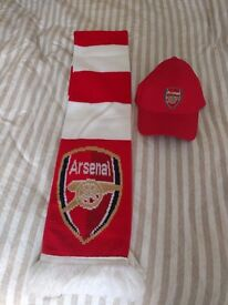Official Arsenal baseball cap and scarf