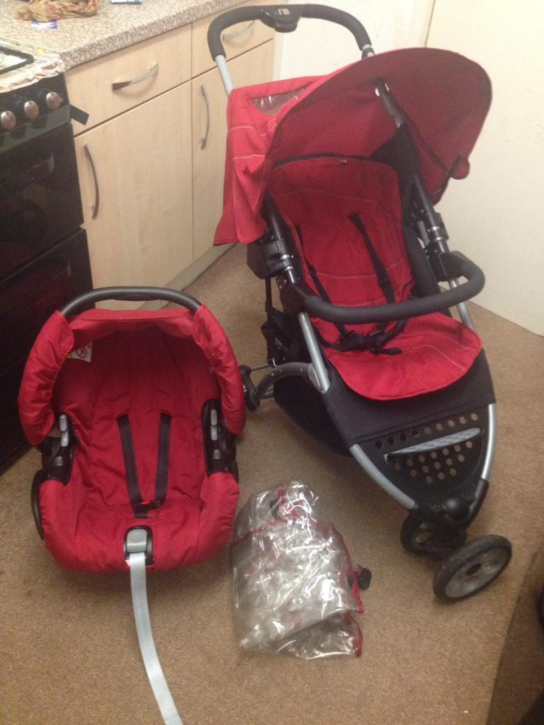 Mothercare Vesta 3 Wheeler Travel System Pushchair Pram