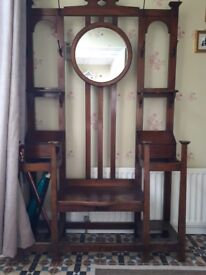 Large Antique Hall, Coat, Umbrella Stand with Mirror £250 ono