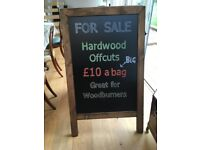 Hardwood Offcuts - mixed large sack Great for Woodburners and open fires.