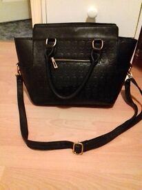 Skull Design Black Handbag/Tote Bag Miss Lulu