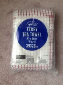 Tea Towels Kitchen Dish Cloths - pack of 10 New