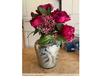 Faux Flower Display In Vase