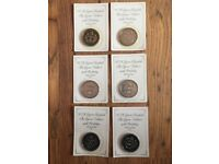 The Queen Mother's 90th Birthday Coins Sealed New X6