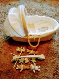 Luxurious Moses Basket for unexpected Xmas visitors
