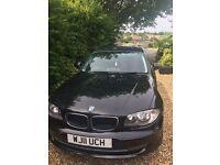 BMW 1 SERIES 2.0 118d Sport 5dr BLACK excellent condition 82,650 miles diesel manual