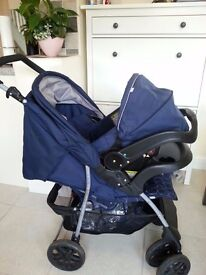 Mothercare U Move Buggy Pram Pushchair Car Seat Travel System footmuff rain cover