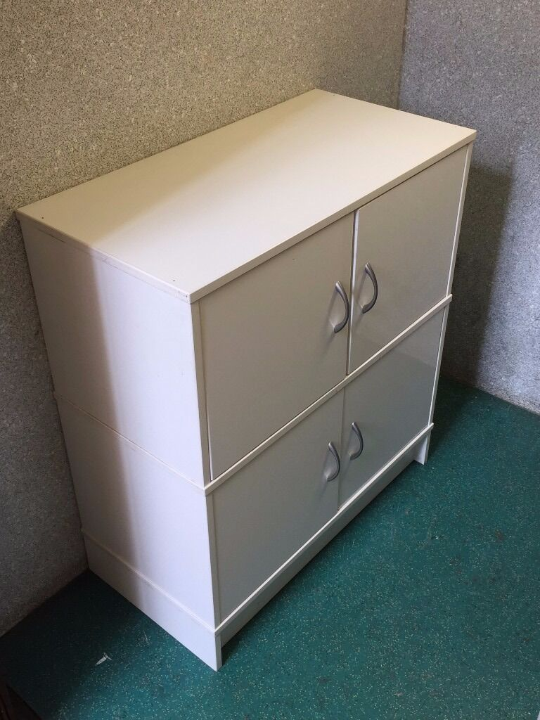 FREE TO COLLECT Storage Cabinets Drawers Pigeon Holes Bedroom Living Room White Wooden Stacking