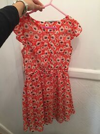Two girls dresses - hardly worn - age 5/6