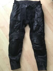 RST leather motorbike trousers, great condition, size 14.