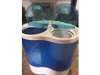 Compact twin tub washing machine for boat/ caravan