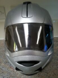 Unisex motorcycle helmet - used, good condition. Silver