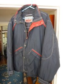 lovely brand new men's blue & red light weight fluffy jacket,medium/large only £9,stanmore,middx....