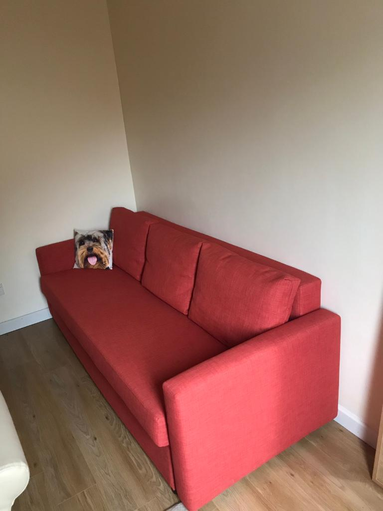 Sofa bed - 3 seater/double bed like new