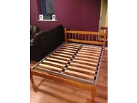 Second Hand Small Double Bed (4ft) with Mattress for SALE
