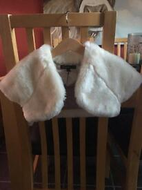 Girls fur bolero
