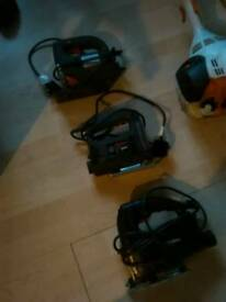 Three electric jig saws ideal for d I y