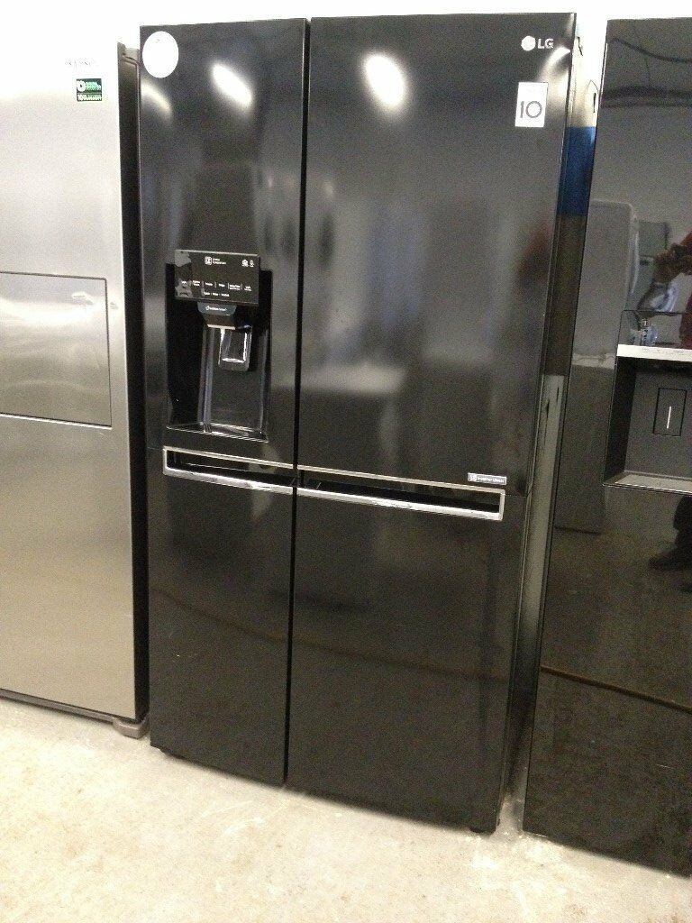 Lg Gsl760wbxv American Style Fridge Freezer Black In