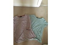 Striped maternity tops size 8