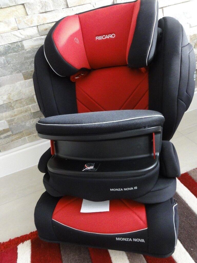 Recaro Monza Nova Seatfix IS Group 1 2 3 Isofix Car Seat RED MINT ...