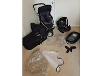 Maxi-Cosi Mura Travel System, Pebble Car Seat & Isofix Base Good Condition