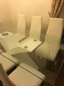 Glass table and chairs - £150