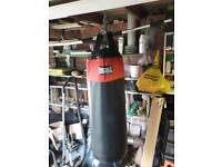 Lonsdale punch bag and boxing gloves